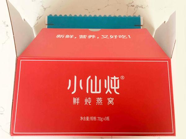 小仙炖鲜炖燕窝使用快乐包波浪可撕拉双面胶